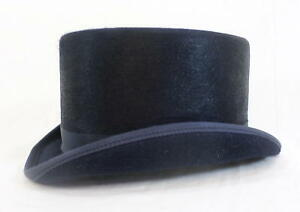 9d0688a2d7c Reed Hill Fur Felt Top Hat Navy size 63 4- MADE IN USA