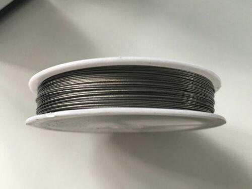 100 m Schmuckdraht 0,35 mm Edelstahl silber DrahtSchmuck Basteln V82 0,04€//m