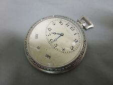 Haas Neveux & Co. Platinum Simple Calendar Vintage Pocket Watch Very Rare!