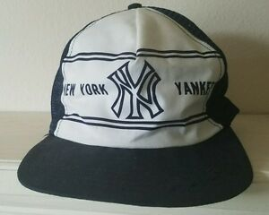 d27d49e54c2a79 Vintage New York Yankees Snapback Trucker Mesh Cap Hat Toppers Hats ...