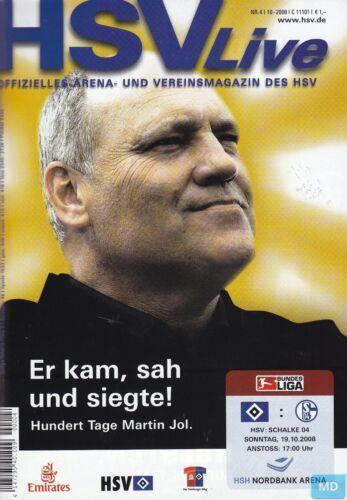 FC Schalke 04 Hamburger SV vs 19.10.2008 HSV Live Programm +