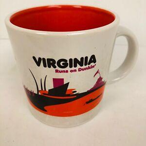 VIRGINIA Runs On Dunkin Donuts Destination Series Mug Coffee Tea Cup 2012 Lovers