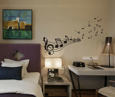 'Large Musical Notes' Transfer Art Vinyl Wall Sticker, Wall Decal- HIGH QUALITY