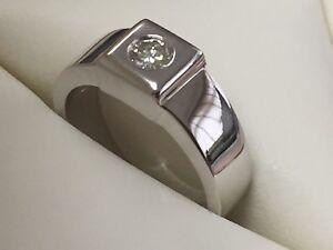 Gentleman-039-s-Stunning-3carat-Diamond-white-gold-set-band-Engagement-Ring-Reduced