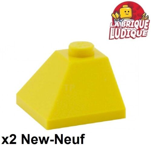 Lego 2x slope brique pente inclinée 45 2x2 convex jaune//yellow 3045 NEUF