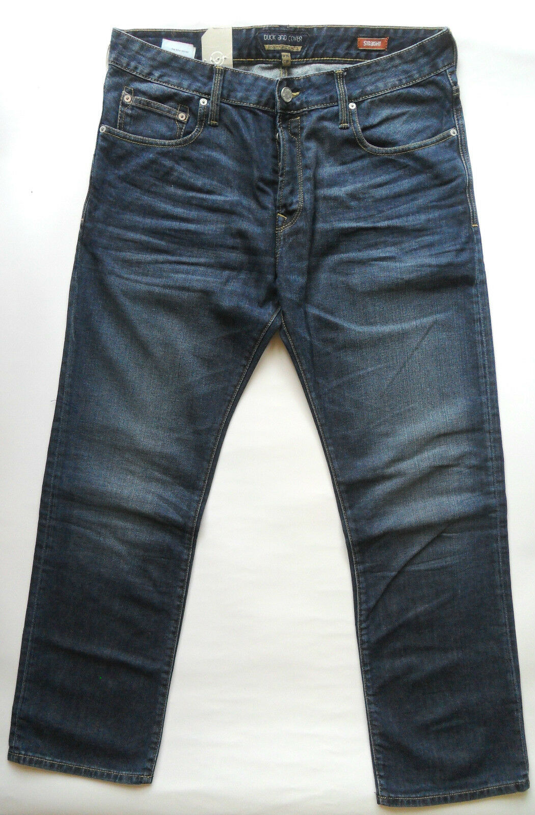 DUCK & COVER Jeans Jeans Jeans Men's Regular Fit Straight Leg Boxsir Various Colours & Größes df3ec3