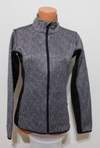 Andrew Marc New York Sweater-Knit Full Zip Jacket B/&W Brushed Fleece LARGE  NEW