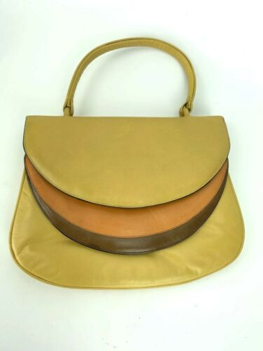 VTG Granello 60's Orange Yellow Brown Italian Leat