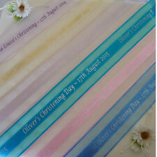 Personalised ORGANZA Ribbon for Christening - cake gifts decoration bows flowers
