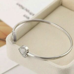 Michael-Kors-Silver-Crystal-Heart-shape-Bracelet-with-Original-Pouch