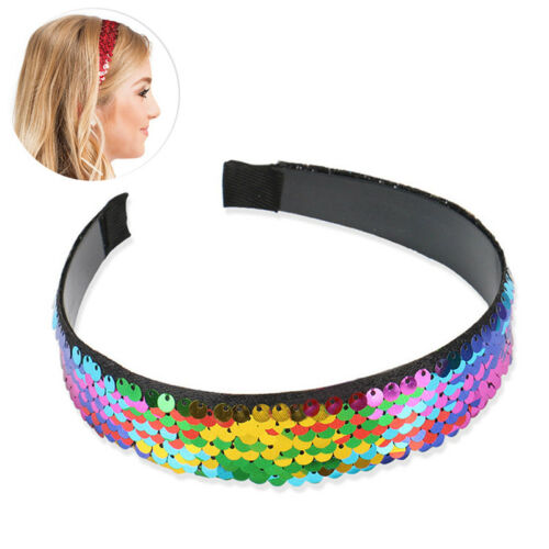 Bling Girls Sequin Mermaid Headband Hairband accessory Halloween Party Gifts GR