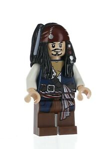 LEGO Pirates of The Caribbean Jack Sparrow Minifigure L1 Sets 4183 4191 4192