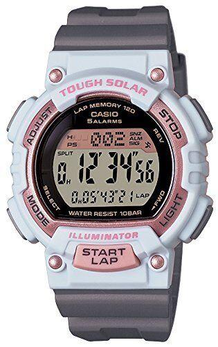 0a3a6421aa95 Casio Sports Gear Stl-s300h-4ajf 120 Lap Memory Solar Model 100m Ladies  Watch for sale online