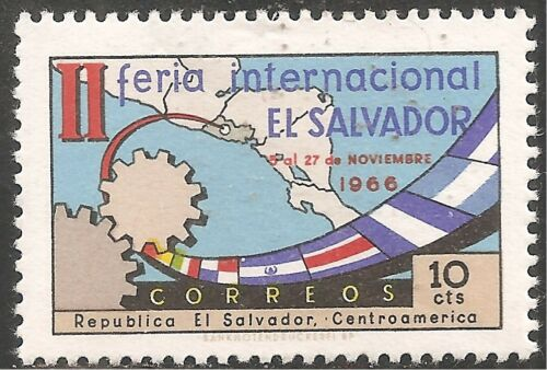 El Salvador Stamp-Scott #773/A196 10c Multi