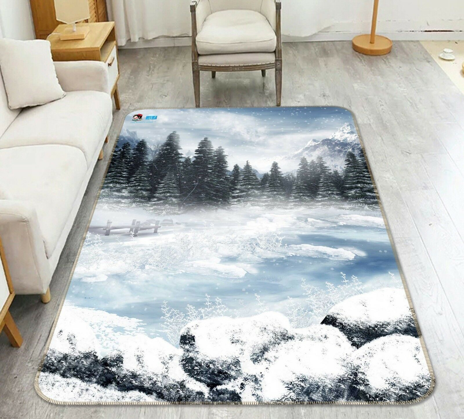 3D Weiß Snow Road 106 Non Slip Rug Mat Mat Mat Room Mat Quality Elegant Carpet UK Cobb 0857c0