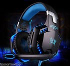 Gaming Headset Surround Stereo Headband Headphone USB LED with Mic for PC Laptop