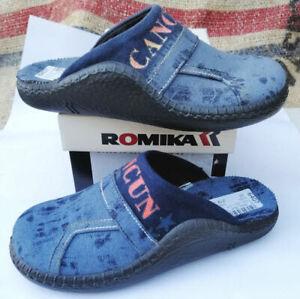 ROMIKA-MOKASSO-68-Gr-32-M-Kinder-Hausschuhe-Pantoffel-Blau-NEU-OVP-6106870500