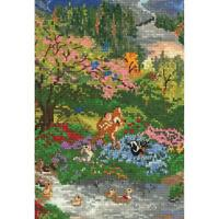 Counted Cross Stitch Disney Kit Bambi Thomas Kinkade 5 X 7