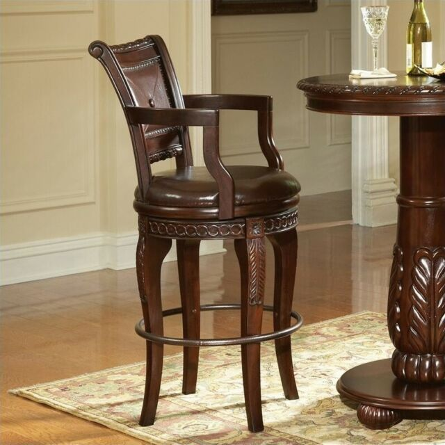 Steve Silver Company Antoinette 30 Swivel Bar Stool In Cherry For