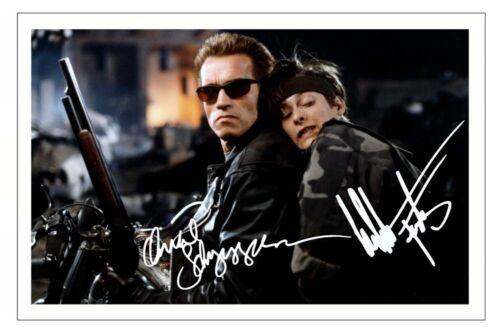 ARNOLD SCHWARZENEGGER /& EDWARD FURLONG Signed Autograph PHOTO Print TERMINATOR 2