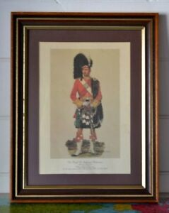Vintage-British-Army-Argyll-Sutherland-Highlanders-Print-A-E-Haswell-Miller