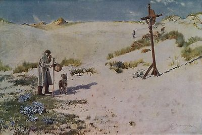 SIR DAVID MURRAY R.A.1887 Watercolor THE CROSS ON THE DUNES 1930 Art Book Print