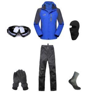 D66-Men-Ski-Snowboard-Jacket-Pants-Gloves-Goggles-Balaclava-Socks-S-M-L-XL-XXL