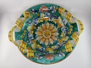 Oggetti Ceramica Di Caltagirone.Centrotavola Portafrutta Oggetti Vassoio In Ceramica Di Caltagirone