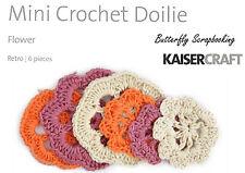 Mini Crochet Flowers Scrapbooking Paper Crafting Embellishment Kaisercraft NEW