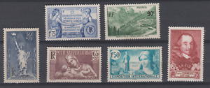 FRANCE-1938-1939-YT-352-357-358-356-335-336-N-MNH-NSC-LOT-ISERAN-CORNEILLE