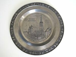 Image is loading Zinn-Becker-Stuttgart-Pewter-Wien-Stephansdom-Wall-Hanging-  sc 1 st  eBay & Zinn Becker Stuttgart Pewter Wien Stephansdom Wall Hanging Plate 8 1 ...