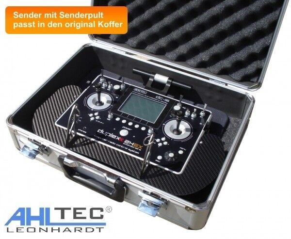 Senderpult ahltec-Jeti Duplex émetteur émetteur émetteur dc-14 & dc-16 en carbone véritable-charbon fibre 867fda