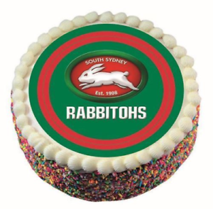 RABBITOHS NRL TEAM EDIBLE ICING IMAGE RUGBY ROUND DECORATING