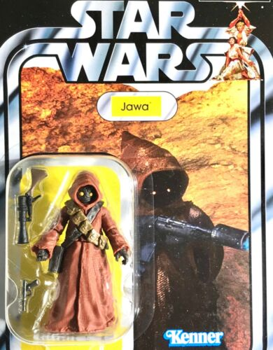 environ 9.52 cm Tatooine JAWA 2019 collection vintage VC161 Star Wars Hasbro Kenner Carte 3.75 IN