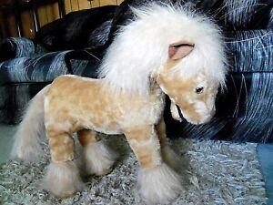 Large-Giant-plush-stuffed-Palomino-pony-Horse-25-034