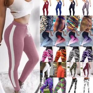 Lady-Womens-Workout-Leggings-Sports-Yoga-Gym-Fitness-Pants-Athletic-Clothes-X153