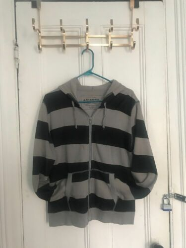 Gray Black Striped Sweater - Edgy