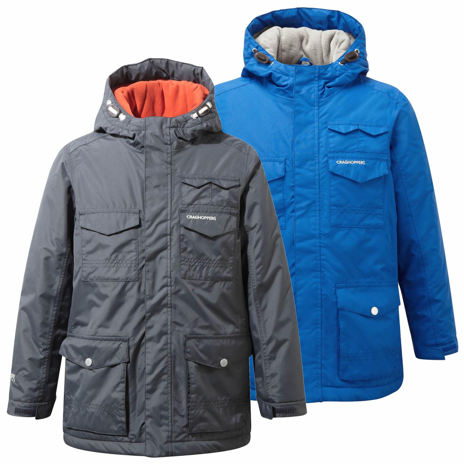 CRAGHOPPERS Kids CHILDRENS LIGHTWEIGHT WATERPROOF COAT Jacket Blue **RRP £40**