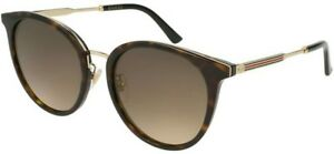 cdc364bb98 New Gucci GG0204SK 002 Frame Colour Havana and Gold Lens Colour ...