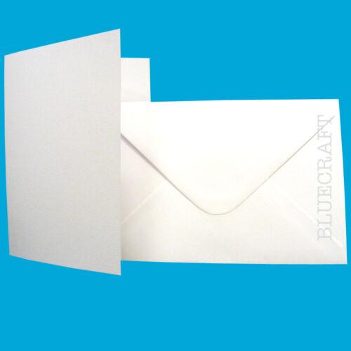 50 x A6 Luxury Invitation White Card Blanks /& Envelopes