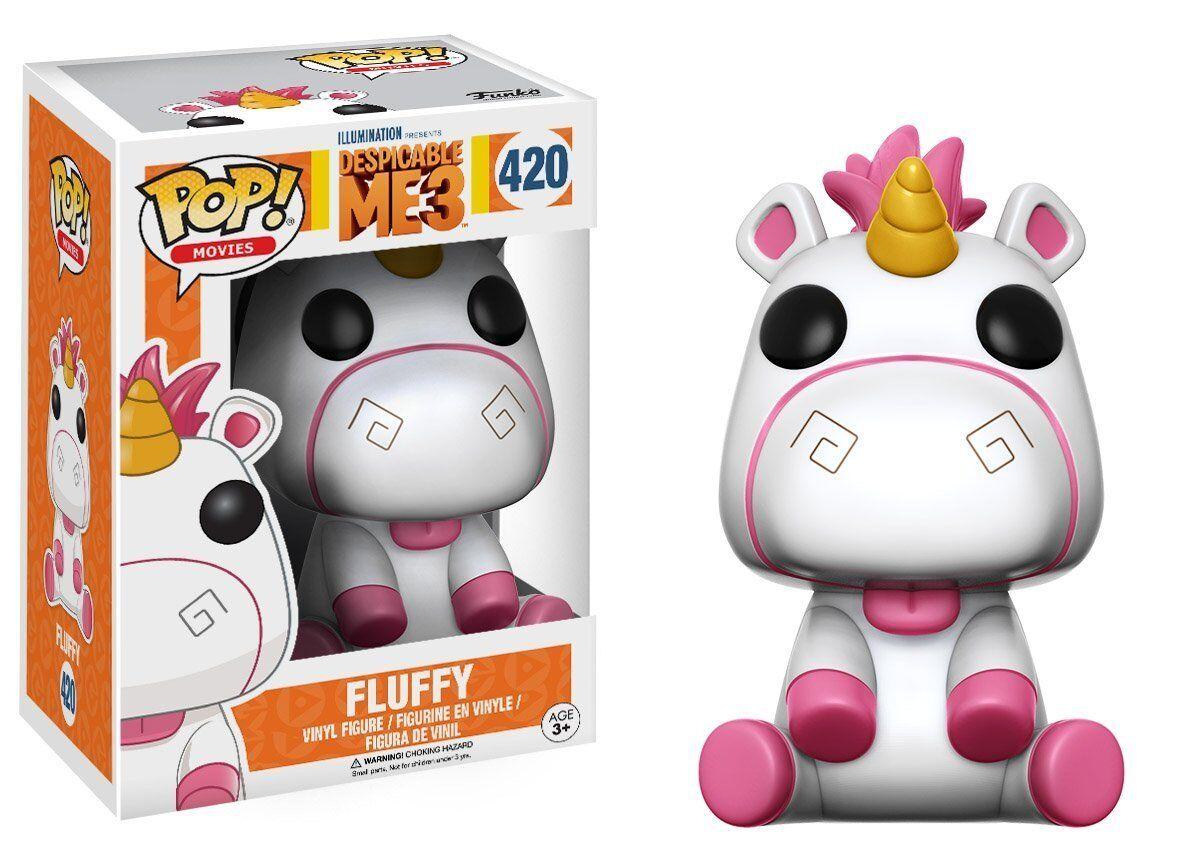 Fluffy Einhorn Despicable Me 3 Minons POP  Movies  420 Vinyl Figur Funko