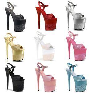 f9201d63c3c Pleaser FLAMINGO-809-2G Exotic Dancing Platform Ankle Strap Sandal 8 ...