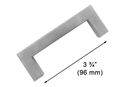 "1//2/"" Square Corner Cabinet Door Handles Pull Knob Stainless Steel Shiny Silver"