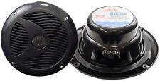 "Pair New Pyle PLMR60B 6 1/2"" Dual Cone Waterproof Stereo Speaker System Kit"