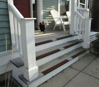 Slip Preventing Aluminum Stair Nose Edging W/wood Mounting Hardware, Each