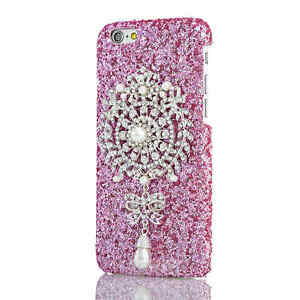 Luxury-Bling-Glitter-Pearl-Crystal-Slim-Phone-Case-Cover-For-iphone-6S-4-7-Pink