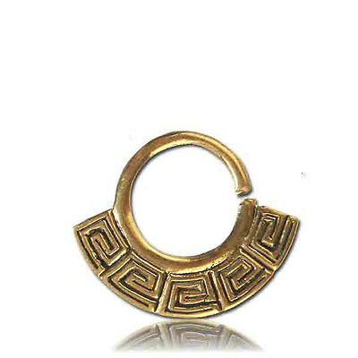 TRIBAL AFGHAN FAKE STYLE  BRASS HANGING SEPTUM 9MM RING DIAMETER NOSE