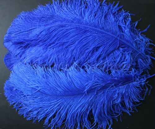"""1 pc of 22-24/"""" Royal Blue Ostrich Drab Plume Feather for Wedding Millinery"""