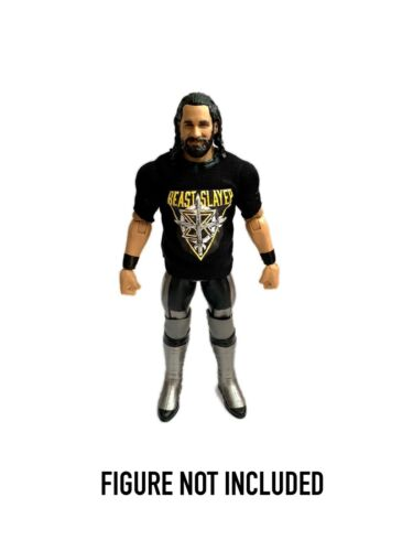 "WWE SETH Rollins /""bête SLAYER/"" Custom Shirt pour Mattel figures."