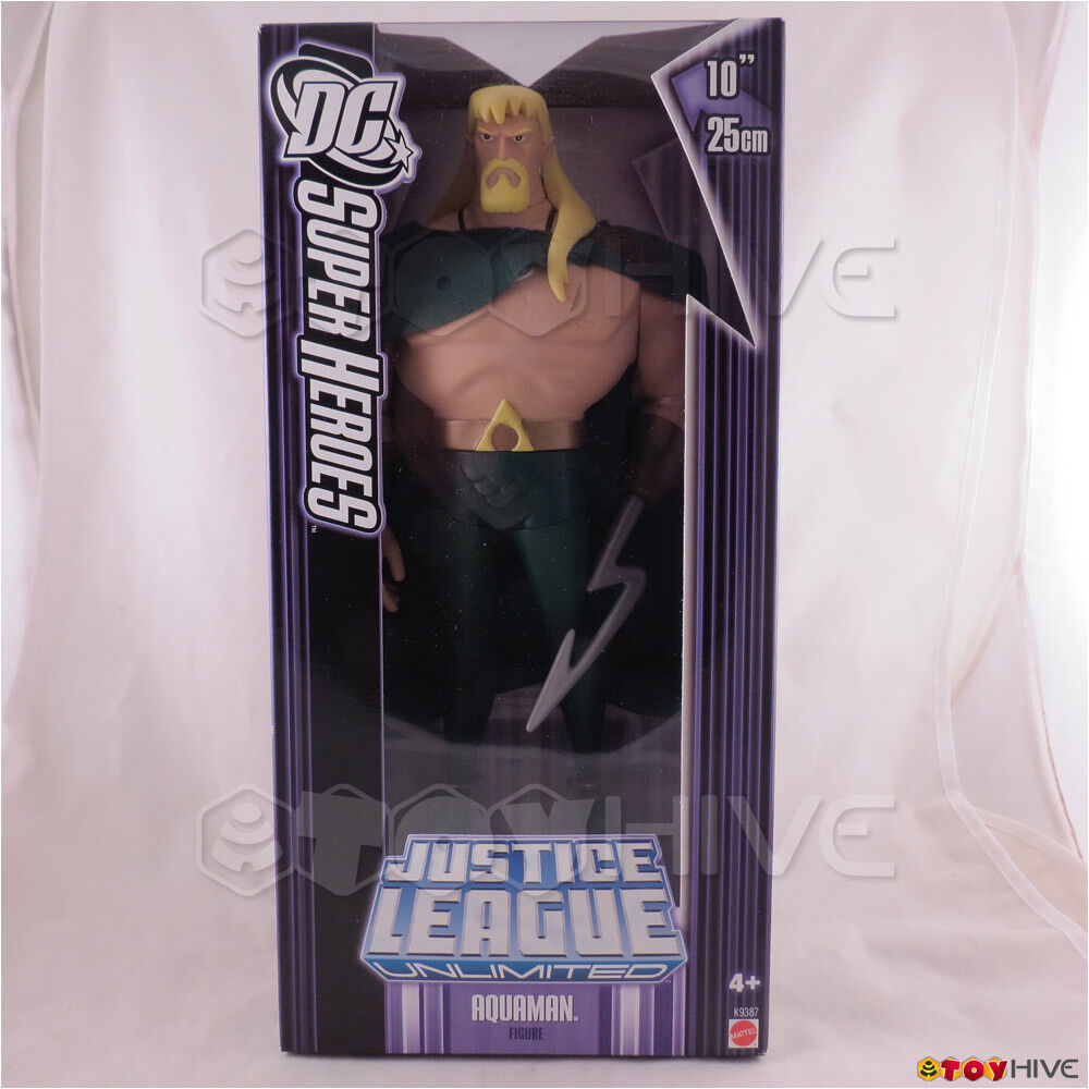 Justice League Unlimited Aquaman w/ cape 10 inch 25cm DC super heroes lila box